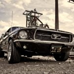 auto, oldtimer, mustang