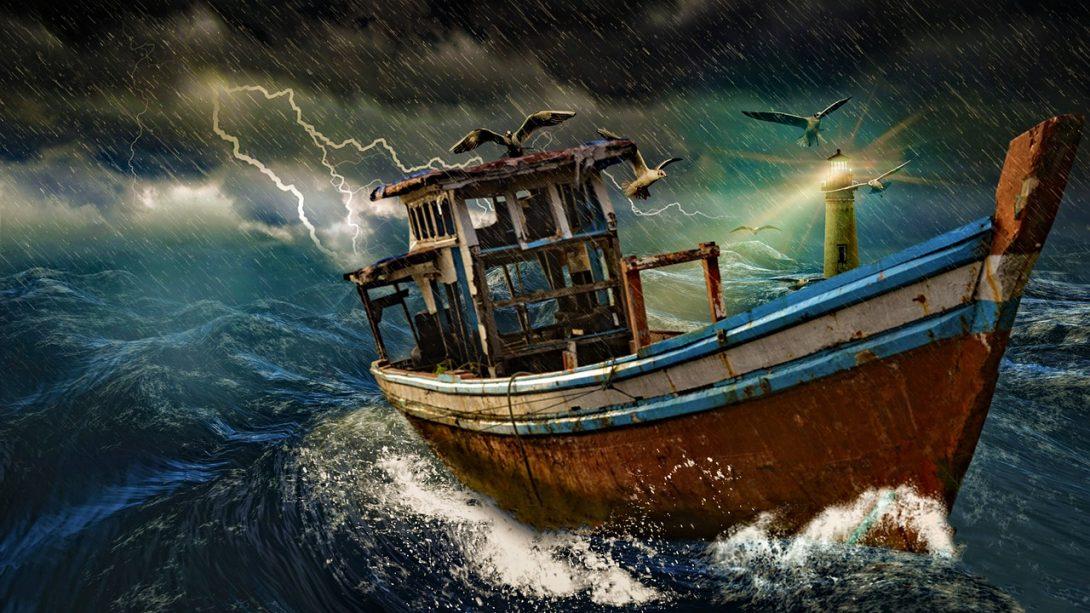 ship, boat, ocean